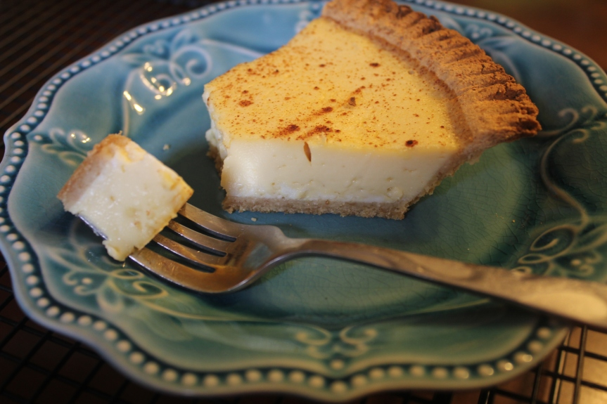 Egg Custard Pie  (Low Carb, Sugar Free, THM (S), Gluten Free)