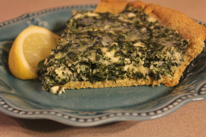 Spinach and Feta Pie (Low Carb,Gluten Free, THM-S)