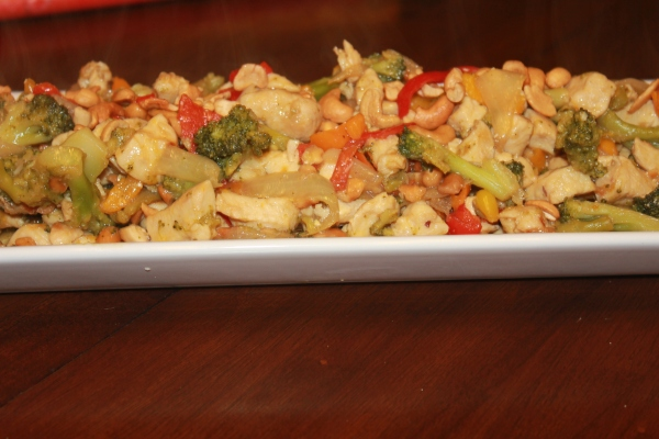 My Table of Three, Trim Healthy Mama Cashew Chicken, Recipe Review