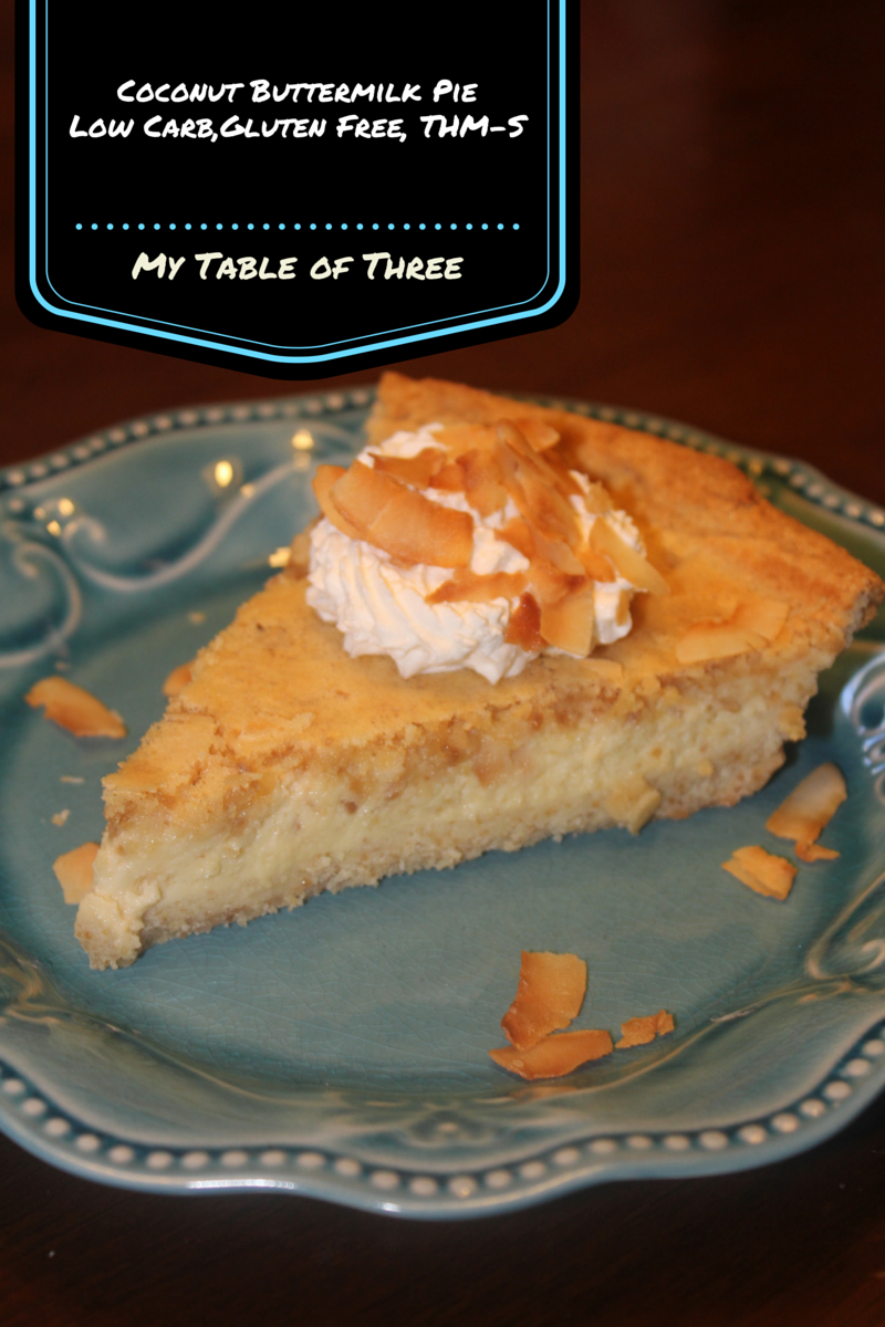 Low Carb Coconut Buttermilk Pie
