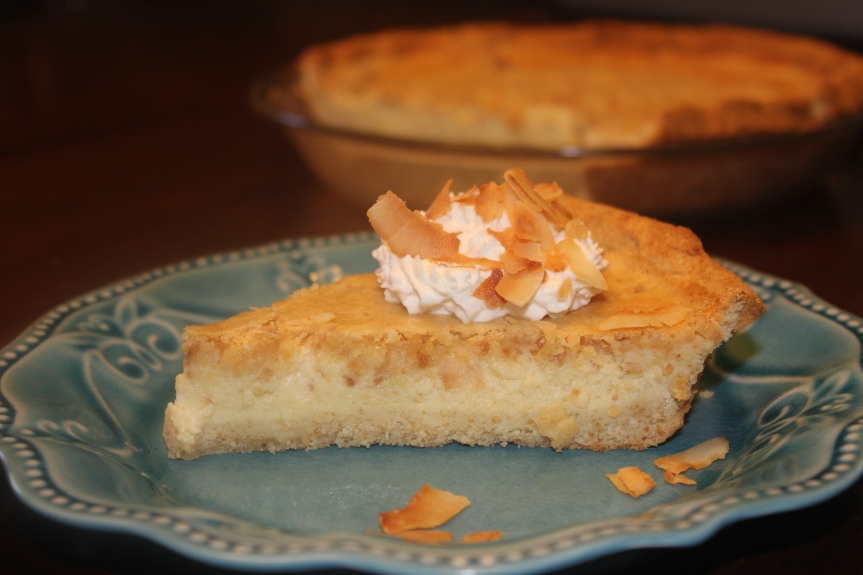 Coconut Buttermilk Pie (Low Carb,Gluten Free, THM Friendly)