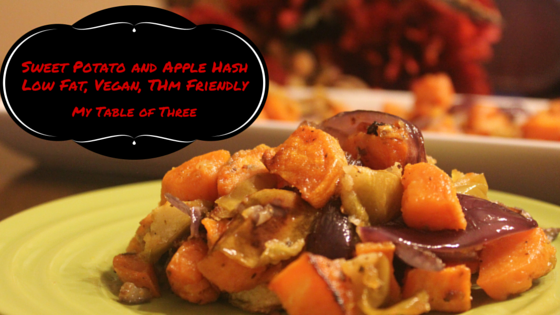 Sweet Potato and Apple Hash (Low Fat, Vegan, THM Friendly)